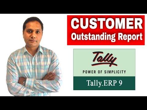 TallyERP9 | Customer Outstanding Billwise Report in Tally | Advance Level