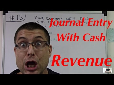Accounting For Beginners #15 / Journal Entry With Cash / Revenue