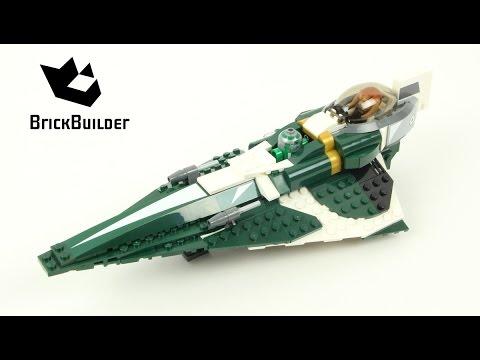 Lego Star Wars 9498 Saesee Tiin's Jedi Starfighter - Lego Speed Build