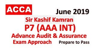 P7 (AAA) Day 04 Advanced Audit and Assurance ACCA Exam