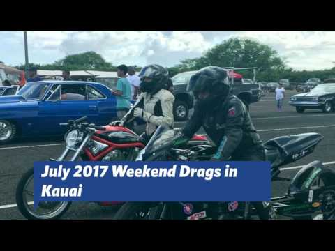 July 2017 Drag Races on the V-Rod Destroyer | Kauai Raceway Park