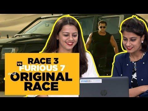 Indiatimes - Indians Reacting To Race 3 Trailer | Race 3 Vs Furious 7 And Original Race