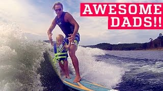 PEOPLE ARE AWESOME | Awesome Dads & Kids Edition (ft. OneRepublic) | Father