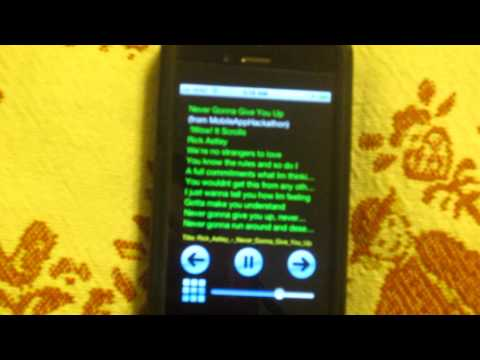 lyrics scroller app
