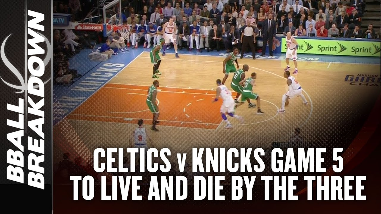 Celtics at Knicks Game 5: To Live And Die By The Three (& Melo's Effort)
