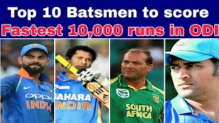 Top 10 Batsmen to score fastest 10,000 runs in ODI cricket