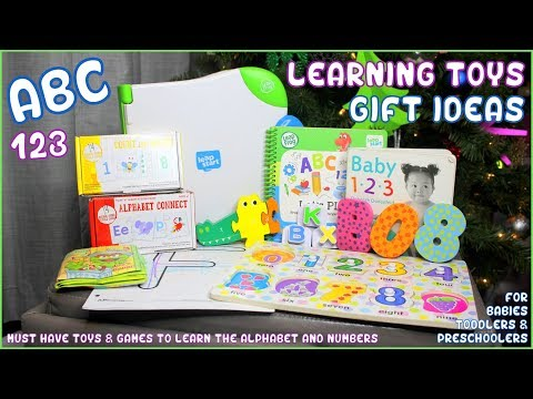 8 Must Have Toys For Your Toddler! Learning Toys Gift Guide To Learn ABCs & 123s