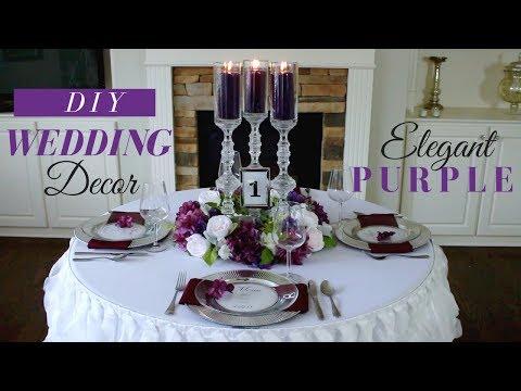 ELEGANT WEDDING RECEPTION DECORATION | DIY PURPLE WEDDING DECORATIONS