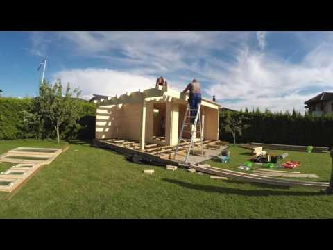 How to install (build) a Log Cabin Summer House (Garden Room, Garden Office)