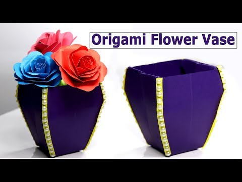 Flower vase: how to make a flower vase with paper - DIY paper crafts