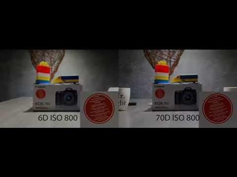 ISO comparison test Canon 6D vs 70D No noise reduc