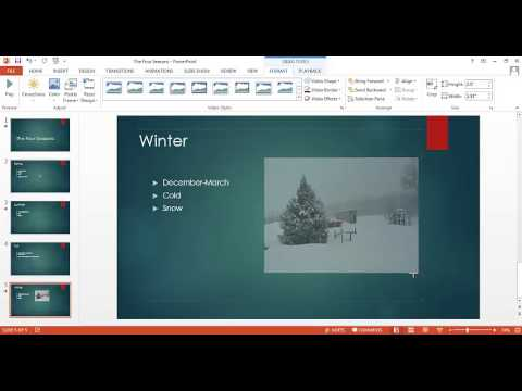 PowerPoint Tutorial 4 of 5 - Insert Video Into a Slide
