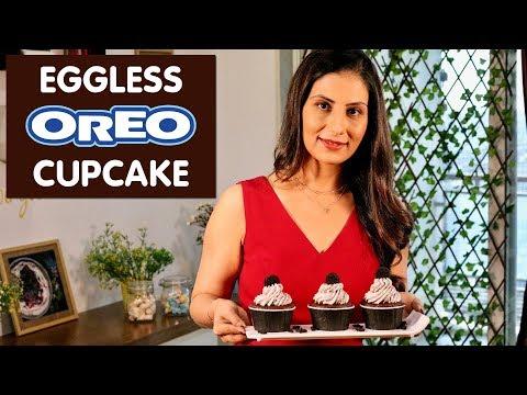 Eggless Oreo Cupcake | Valentine Special Recipe | Meghna's Food Magic