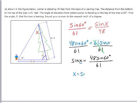 Modeling with Law of Sines