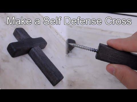 DIY Self Defence Cross with Hidden Spike