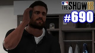 DEMANDING A TRADE IN THE CLUBHOUSE! | MLB The Show 18 | Road to the Show #690