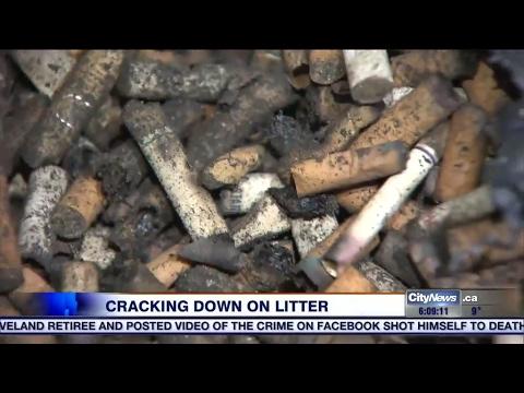 City Hall cracking down on cigarette butt, gum litter