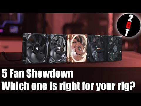 Five PC Fan Showdown - Which one is right for your rig? (Noise Airflow Test 2018)