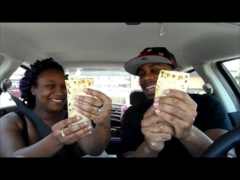 Taco Bell New FlatBread Sandwiches Review With Girlfriend