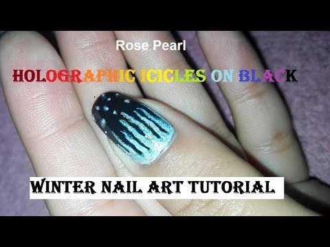 Easy DIY Holographic Icicles- Winter Nail Art Tutorial | Rose Pearl