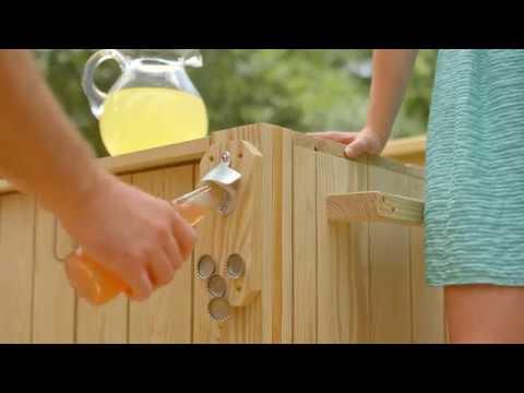 Deluxe Wood Cooler