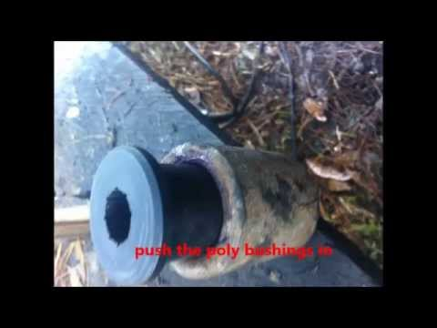 Installing poly leaf spring bushings , and removing overload spring