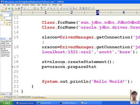 39 Advanced java tutorial |Transfer data from MS-Excel Sheet to Oracle Database table | adv java