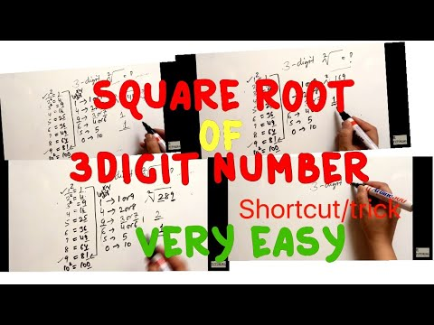square root of a 3 digit number