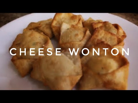 HOW TO COOK CHEESE WONTON