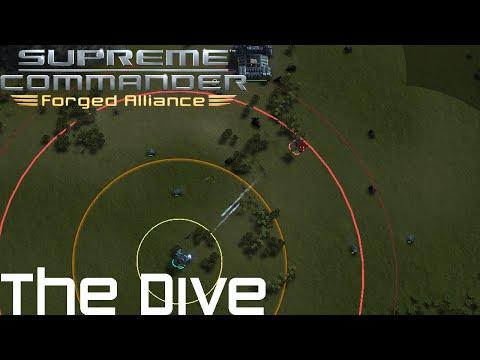 Supreme Commander FAF 1vs1 Multiplayer Gameplay The Dive