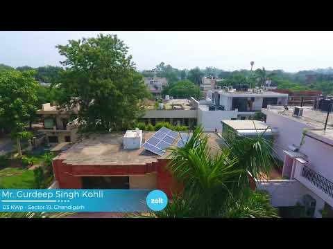 3kW Solar System for Home in Chandigarh, Hyderabad & Delhi