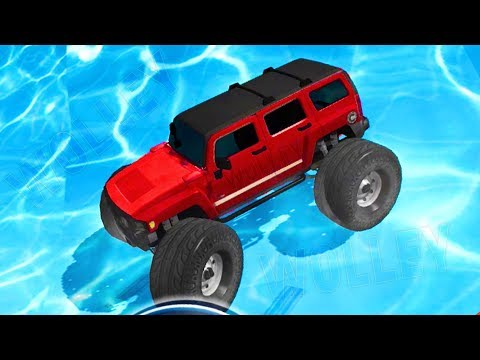 Water Slide Monster Truck Race - Android Gameplay FHD - RC Trucks Racing Water Slide For Kids Games