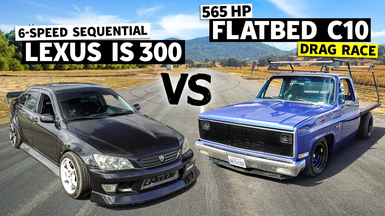 Sequential Swapped IS300 Daily Driver vs. 565hp Chevy C10 Work Truck… on Spray! // This vs. That