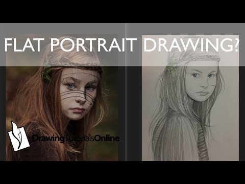 Why are my portrait drawings flat?