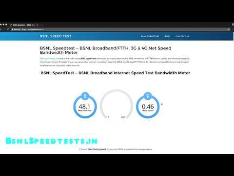 BSNL Broadband Internet Speed Test 2018 - Bsnl Speed Test Demo