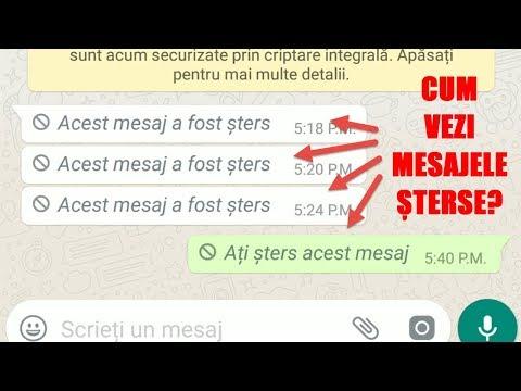 WhatsApp, cum vedem mesajele șterse