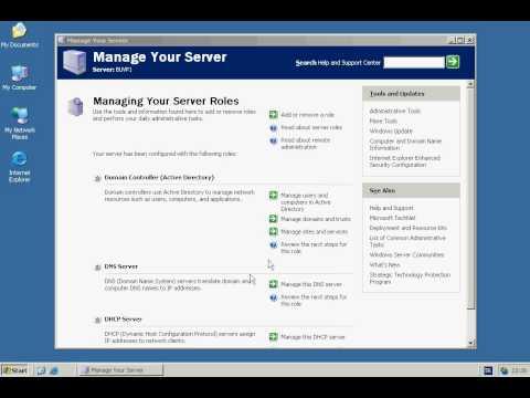 Windows Server 2003 - DHCP Server Configuration