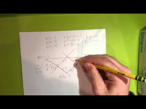 Finding the circumcenter using coordinates