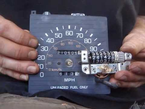 Turning a replacement odometer backwards