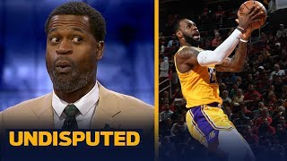 Stephen Jackson gives LeBron an 'A' in the Lakers' 126-111 loss to the Rockets | NBA | UNDISPUTED