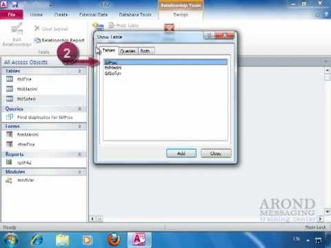 Using Access 2010 - Create a Relationship between Two Tables