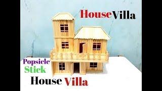 Cara Membuat Miniatur Rumah Villa Modern Dari Stik Es Krim