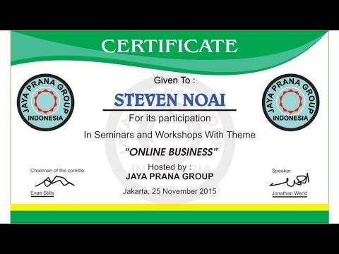 Corel draw Tutorial - Design Certificates (Seminars and Workshop Online Business)