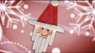 Fazer um Papai Noel. Trabalhos manuais, enfeites de Natal