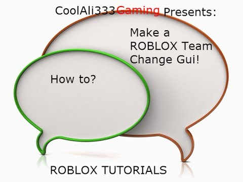 [ROBLOX TUTORIAL] How to make a team change gui