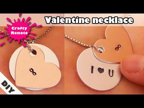DIY gifts - Valentine necklace