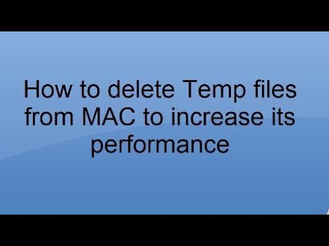 How to delete Caches & Temporary Files from Mac OS