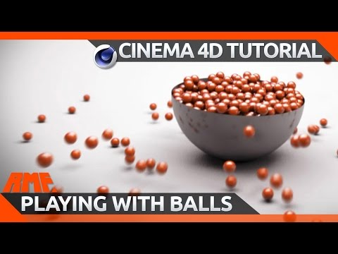 Dymanic Bowl of Balls with Ramped Slow-Mo Tutorial - Cinema 4D