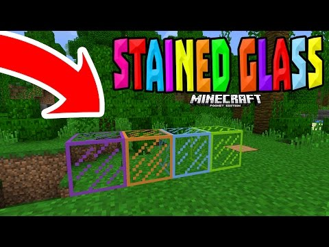 STAINED GLASS in MCPE 1.0?!! - Stained Glass Addon - Minecraft PE (Pocket Edition)
