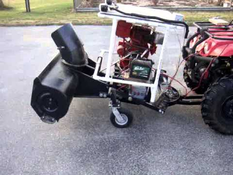 Home-built single stage ATV snowblower/snowthrower function check
